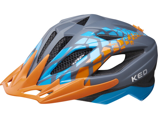 KED Street Jr. Pro Kask rowerowy Dzieci pomarańczowy/niebieski